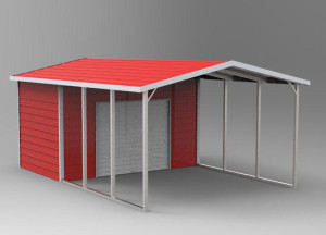 boxed eave storage building