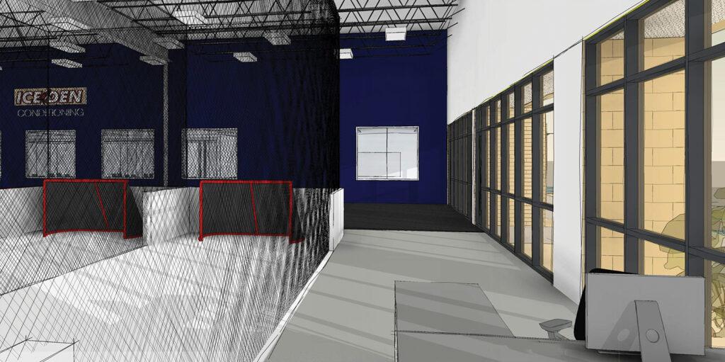 total package hockey classroom render