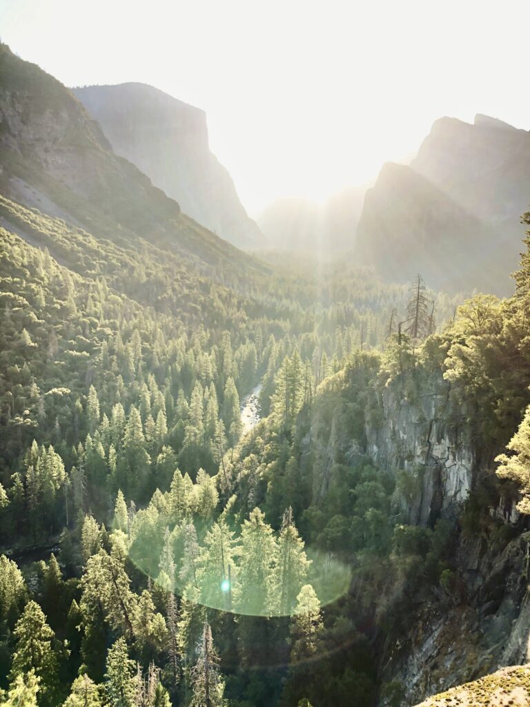 Weekend Getaway to Yosemite National Park at Tunnel View Sunrise