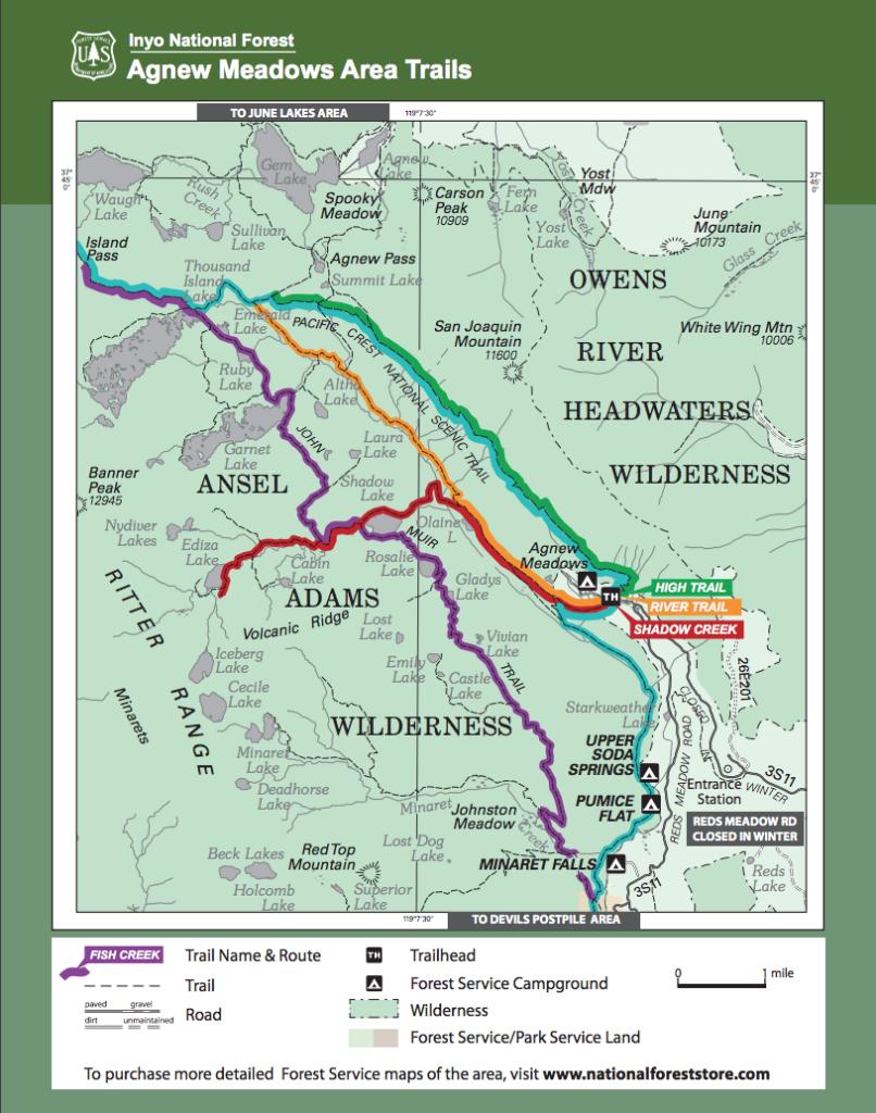 Trail Data for Thousand Island Lake