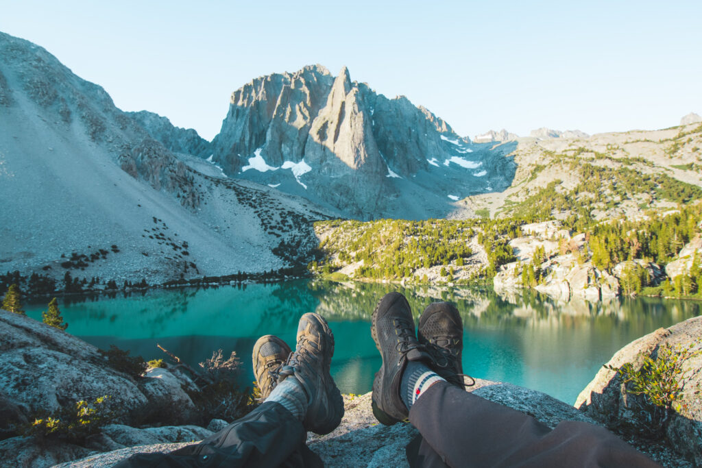 Adventure Couple wearing the Best Hiking Shoes for Day Hikes on Outdoor Adventures