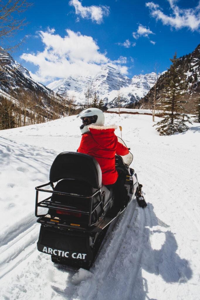 Snowmobiling Maroon Bells Colorado