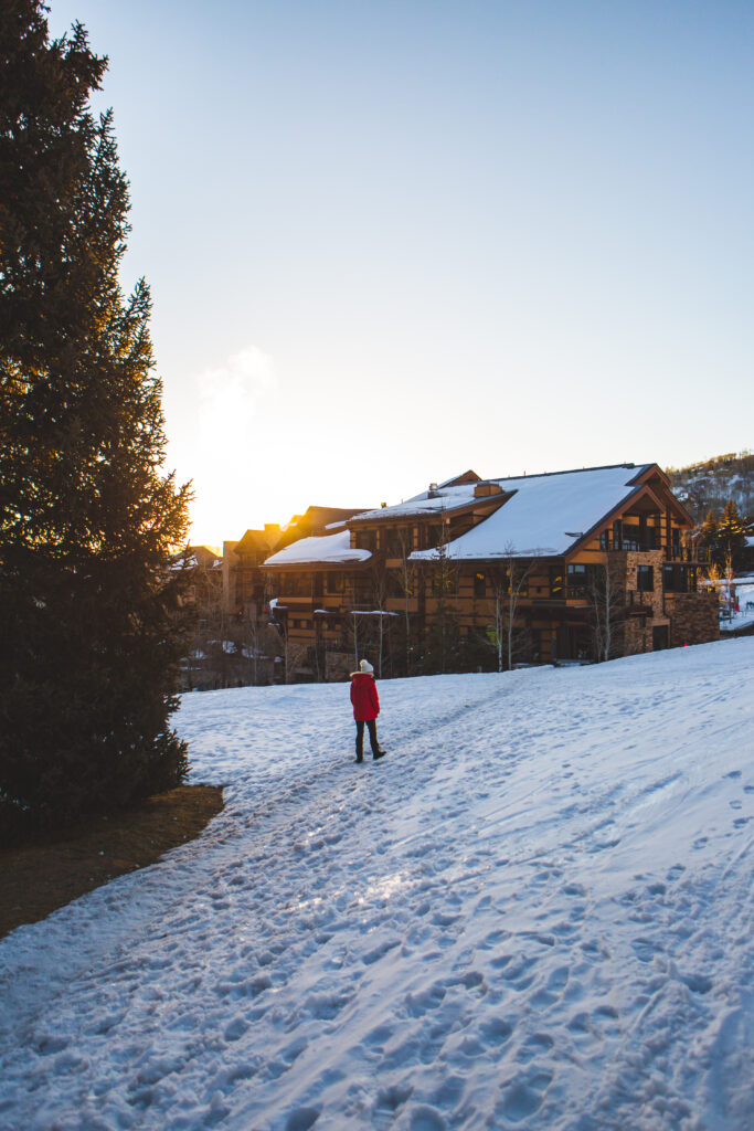 Snowmass Village at Sunrise