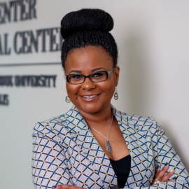 Portrait of Khalilah Shabazz for the 50 Faces of IUPUI campaign. Photo taken at the MultiCultural Center at Taylor Hall on Thursday March 21, 2019.