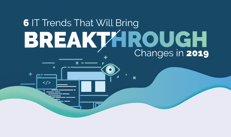 blog banner with the text 6 IT Trends That Will Bring Breakthrough Changes in 2019