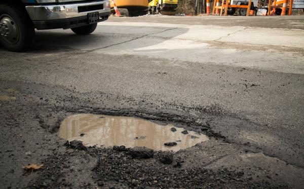 Pothole Terminator Pothole on Main Road