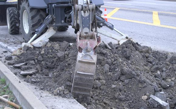 Road Construction in Granville, West Virginia.