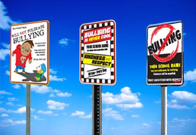 No School Bullying Signs