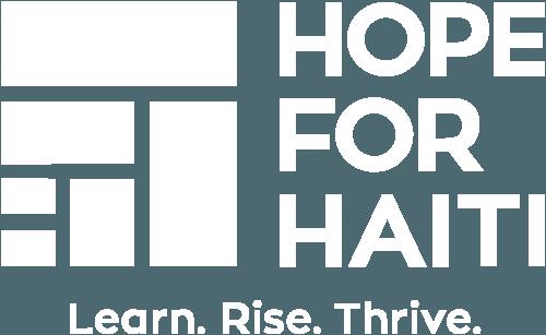Hope for Haiti White Logo