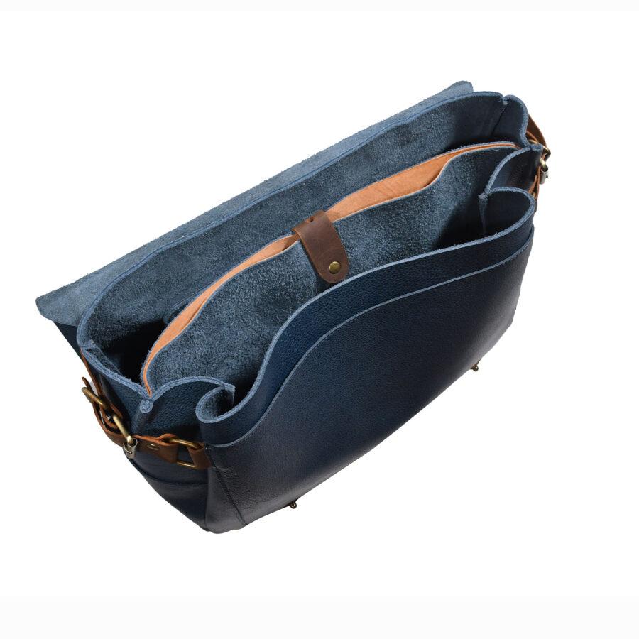 Blue Alpha Messenger Bag
