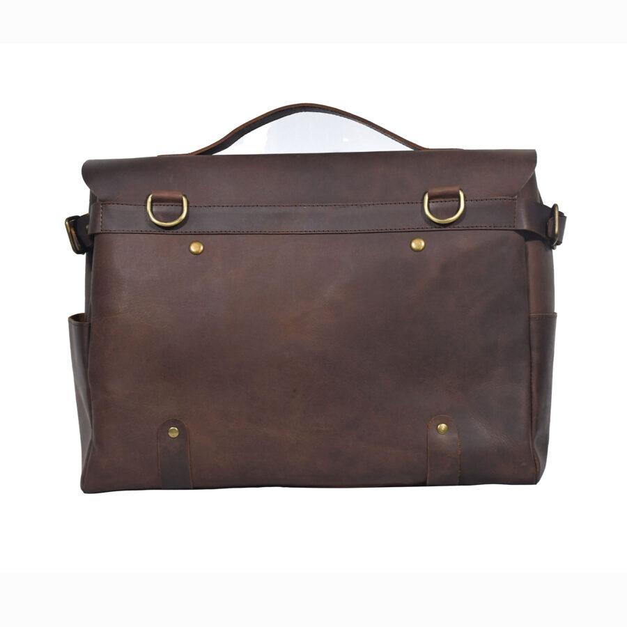 Brown Alpha Messenger Bag