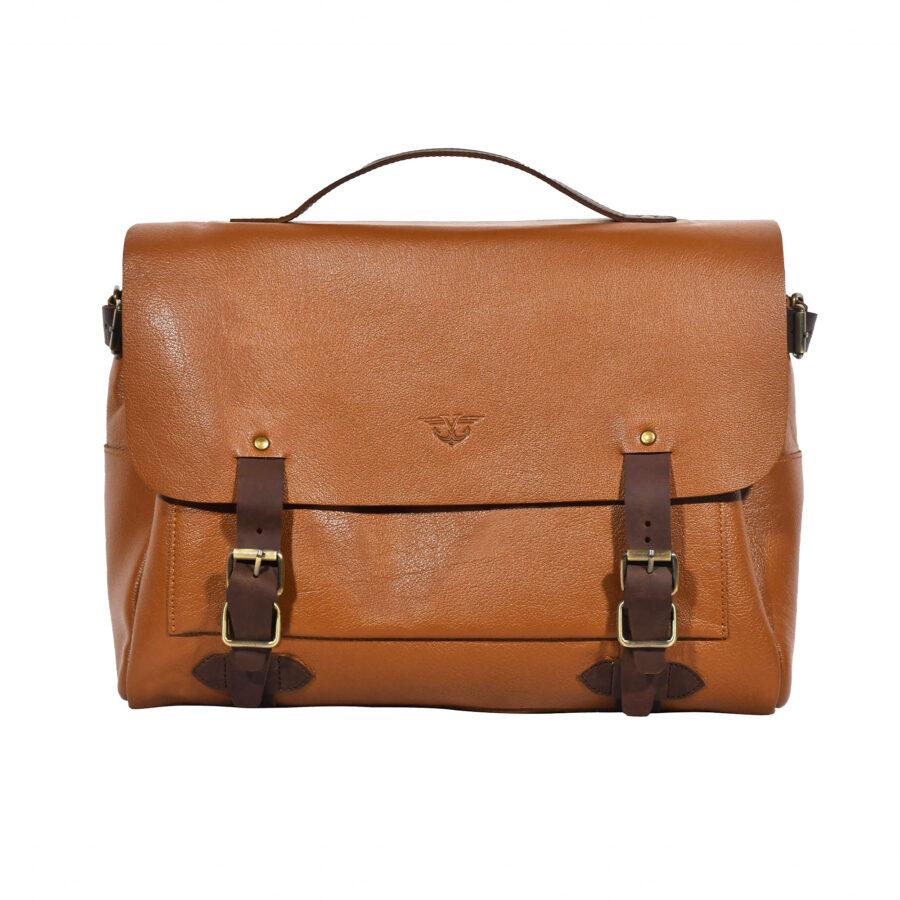 Tan Alpha Messenger Bag