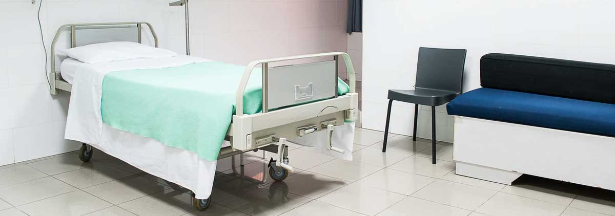 Room with Bed in Medical Facility