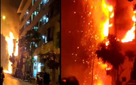 Om Sai Guest House Gutted in fire