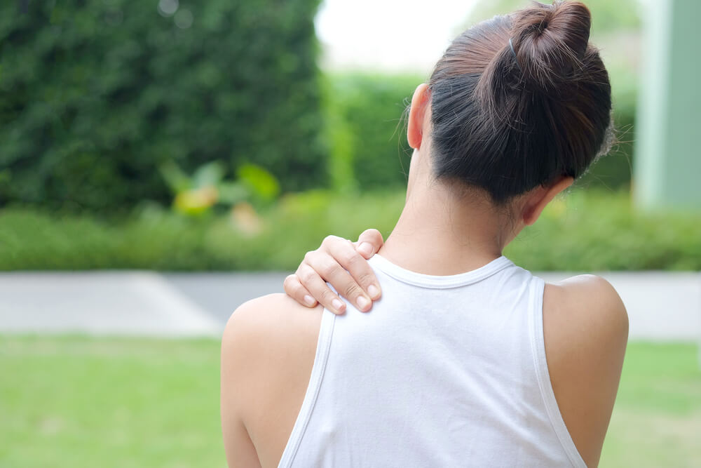 What do I do when the top of my shoulder hurts?