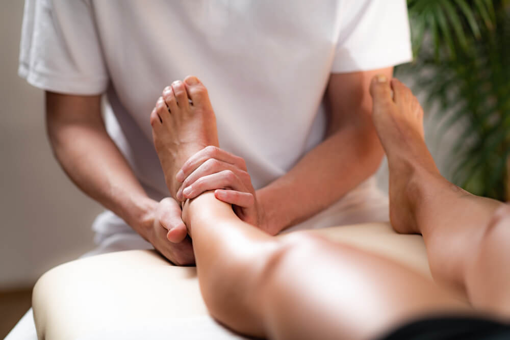 Three physical therapy treatments for top of ankle pain