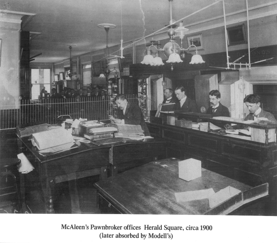 McAleen's Pawnbroker Offices Herald Square