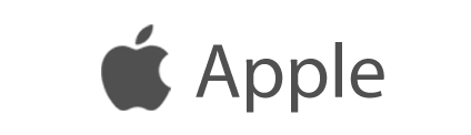 apple logo name dark