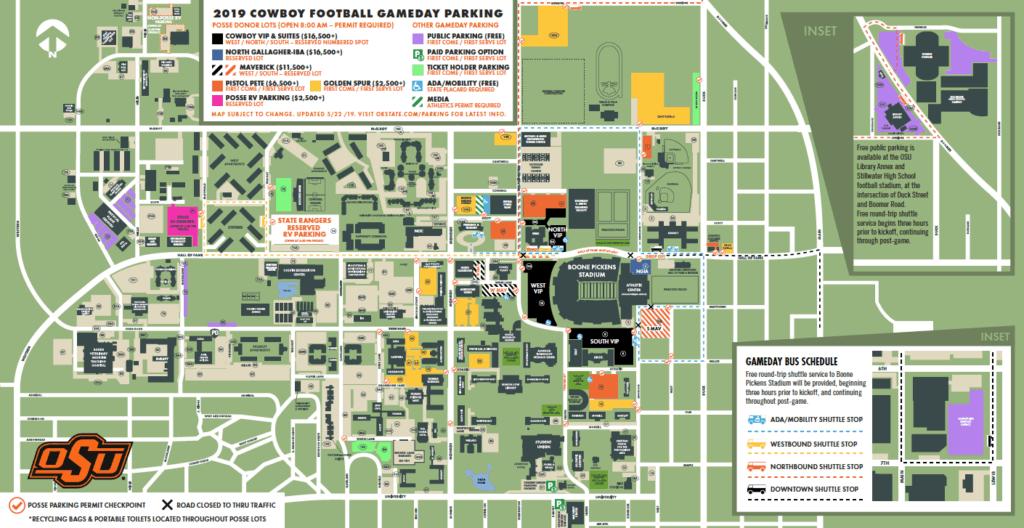 OSU Campus Parking Map