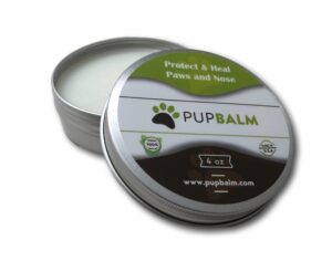 PupBalm a Nose and Paw Balm for Dogs.   Picture and link to 4oz PupBalm