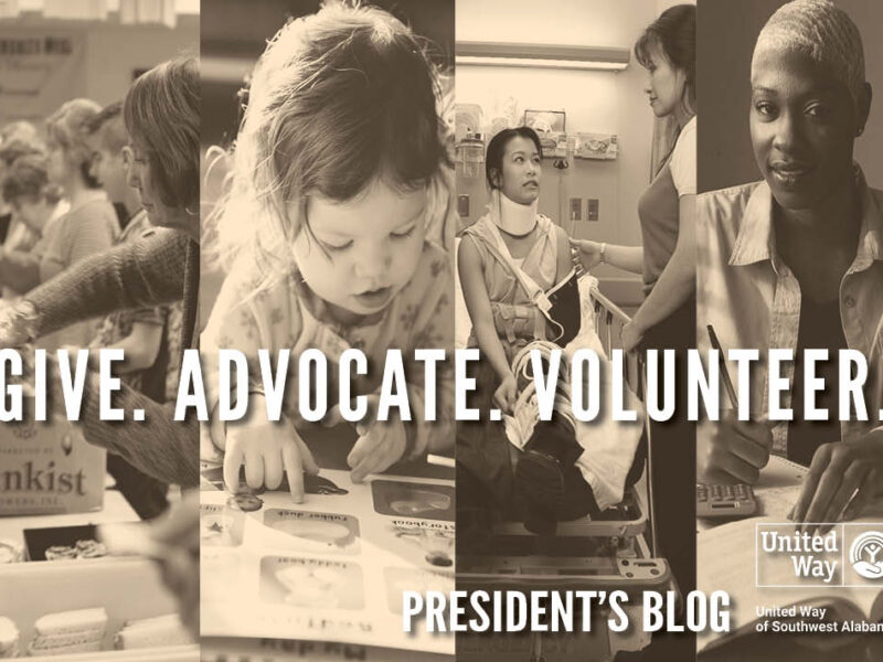Give. Advocate. Volunteer. President's Blog