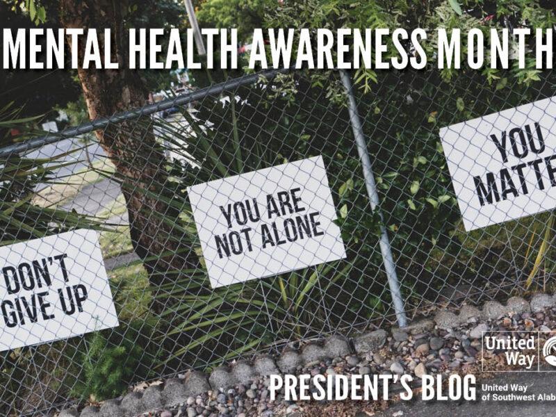 President's May Blog - Mental Health Awareness Month