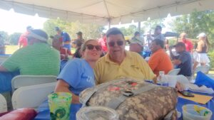 Jill and Glenn Harger at the 2019 Williams Tournament