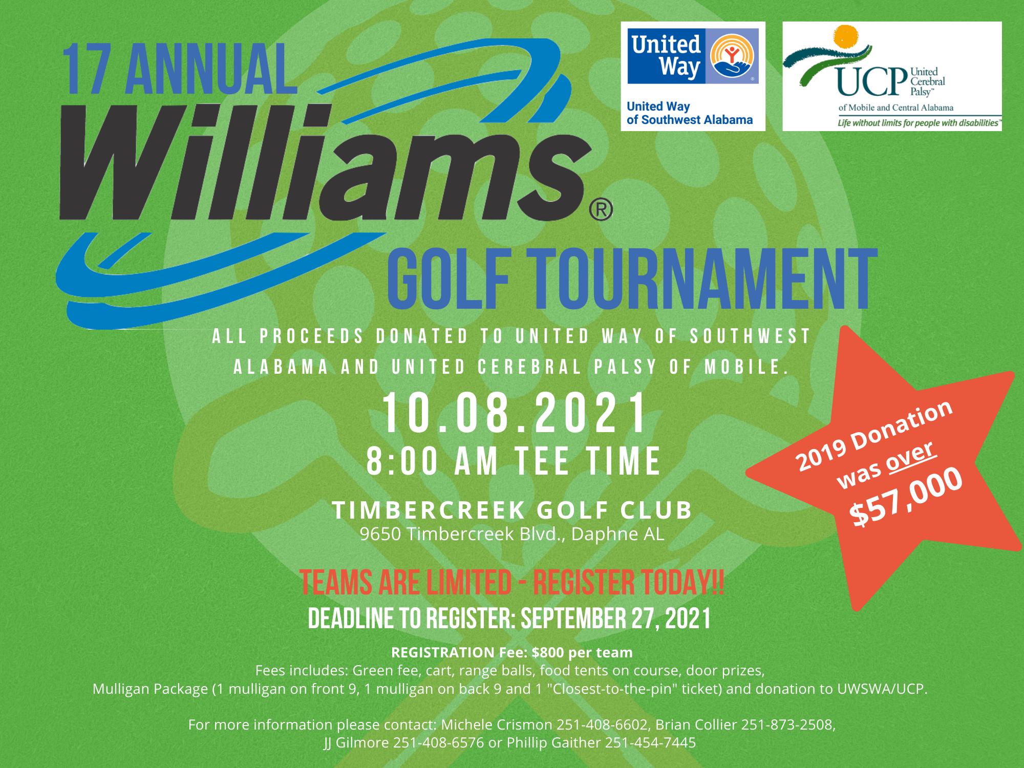 Williams 17th Annual Golf Tournament