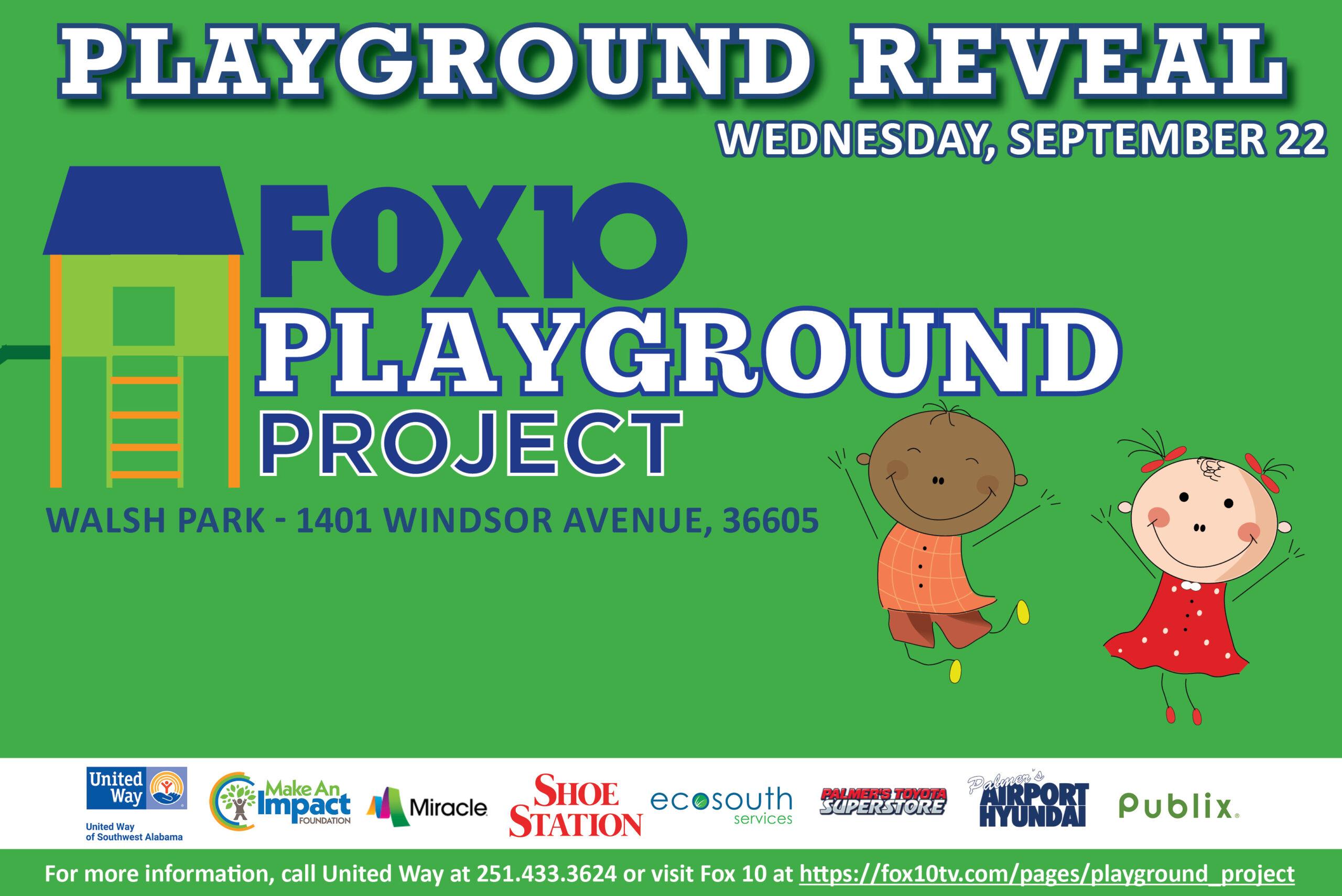 Walsh Park Playground Reveal
