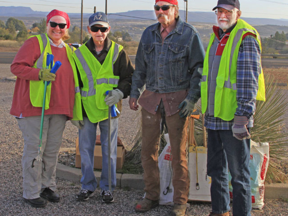11.17.18 VV POA volunteers for HIGHWAY CLEAN UP L to R Peggy and Ralph Barksdale, Mal Otterson, leader, Dave Nauman en az_MG_1842