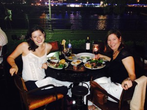 Steak dinner at Cabana al Lilas
