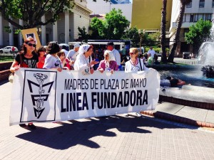 Las Madres during their weekly march.