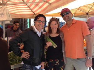 Buying produce at the market with Chef Tiziano.