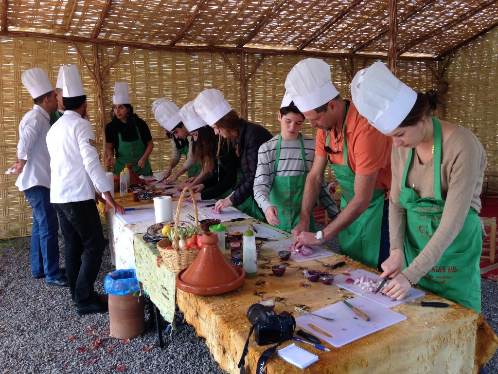 Chefs at work.