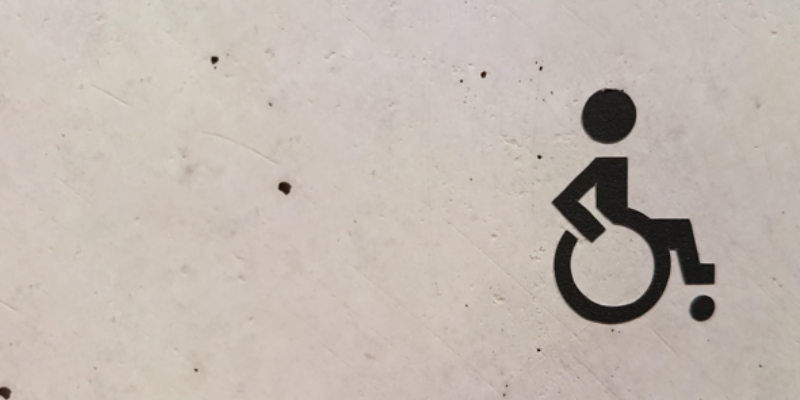 handicapped logo on cement