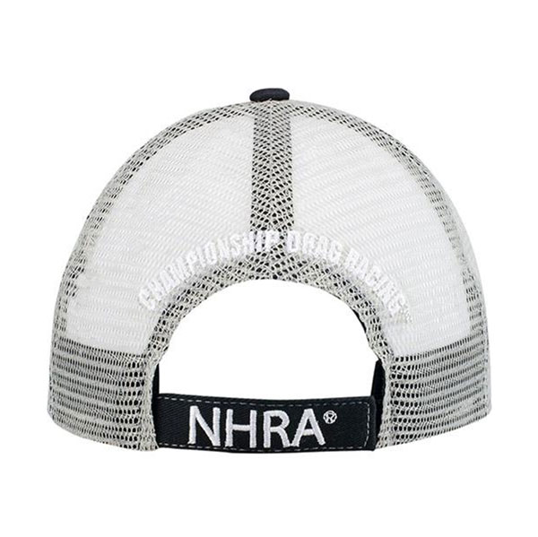 NHRA mesh Black Hat back