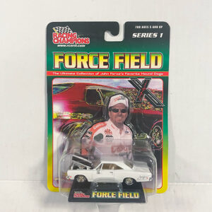 2001 John Force 1968 White Plymouth 1_64 Scale Diecast
