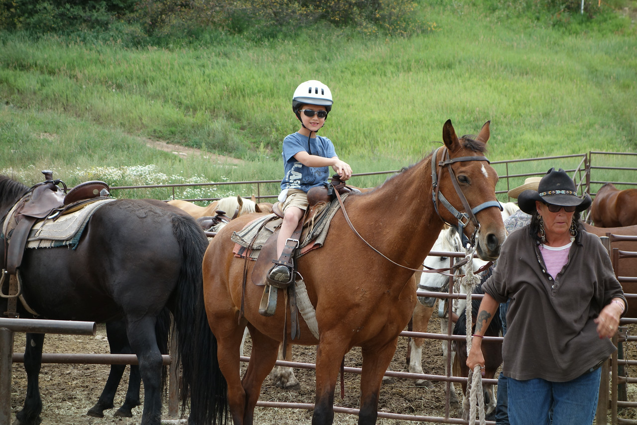 """"""" My first horseback riding experience!"""