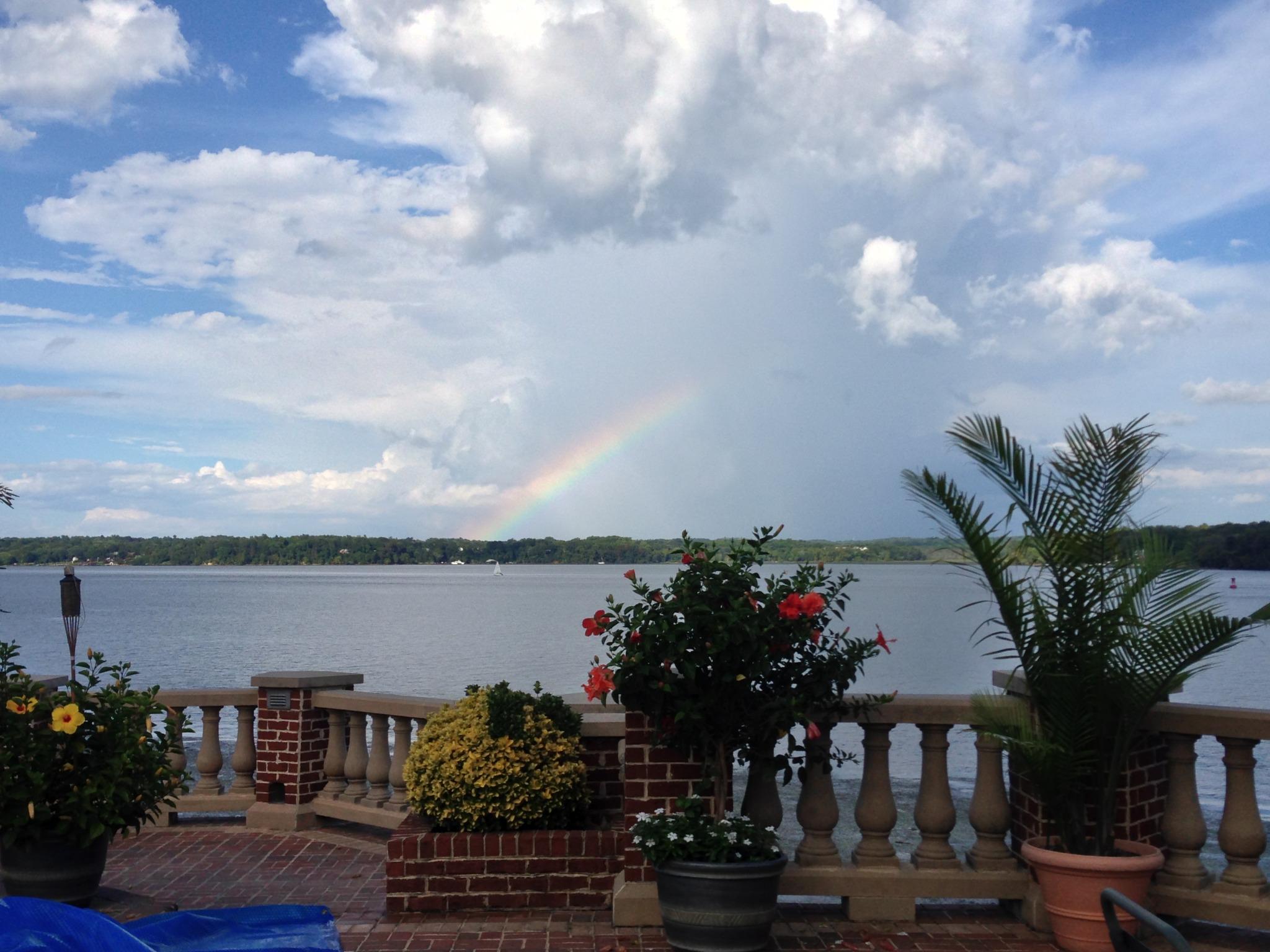 Rainbow over the  potomac
