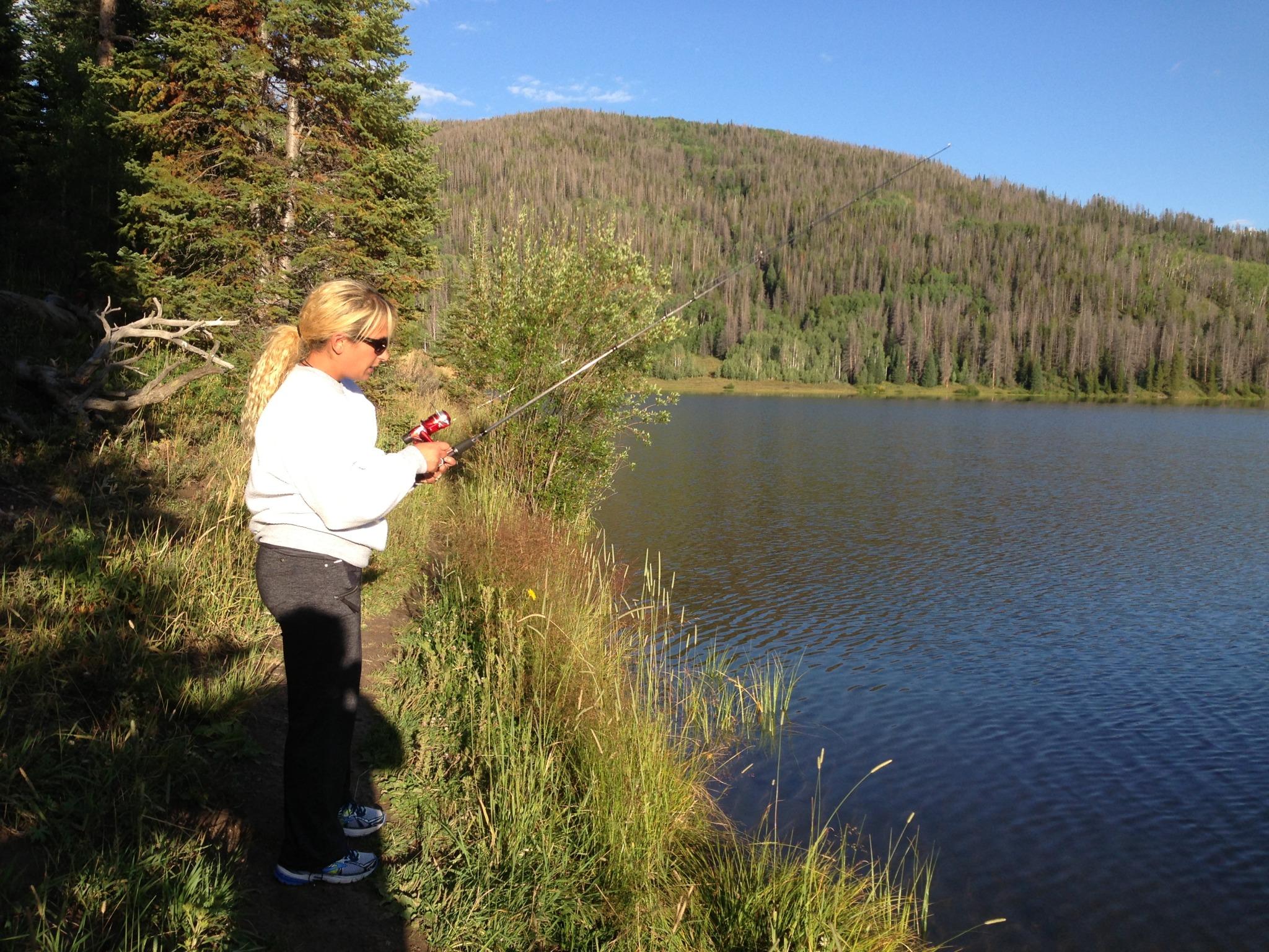 Fishing at Pearl Lake, Colorado