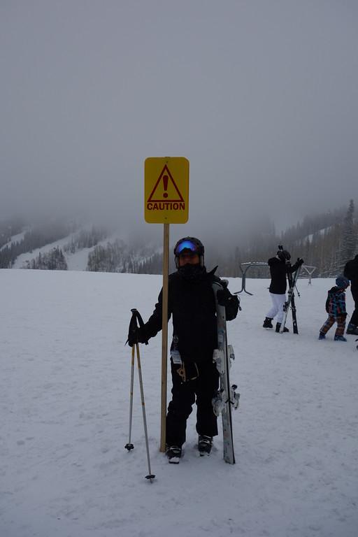 The hazards of skiing