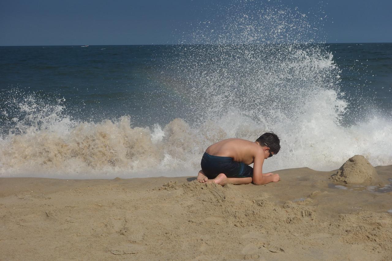 Crashing waves!
