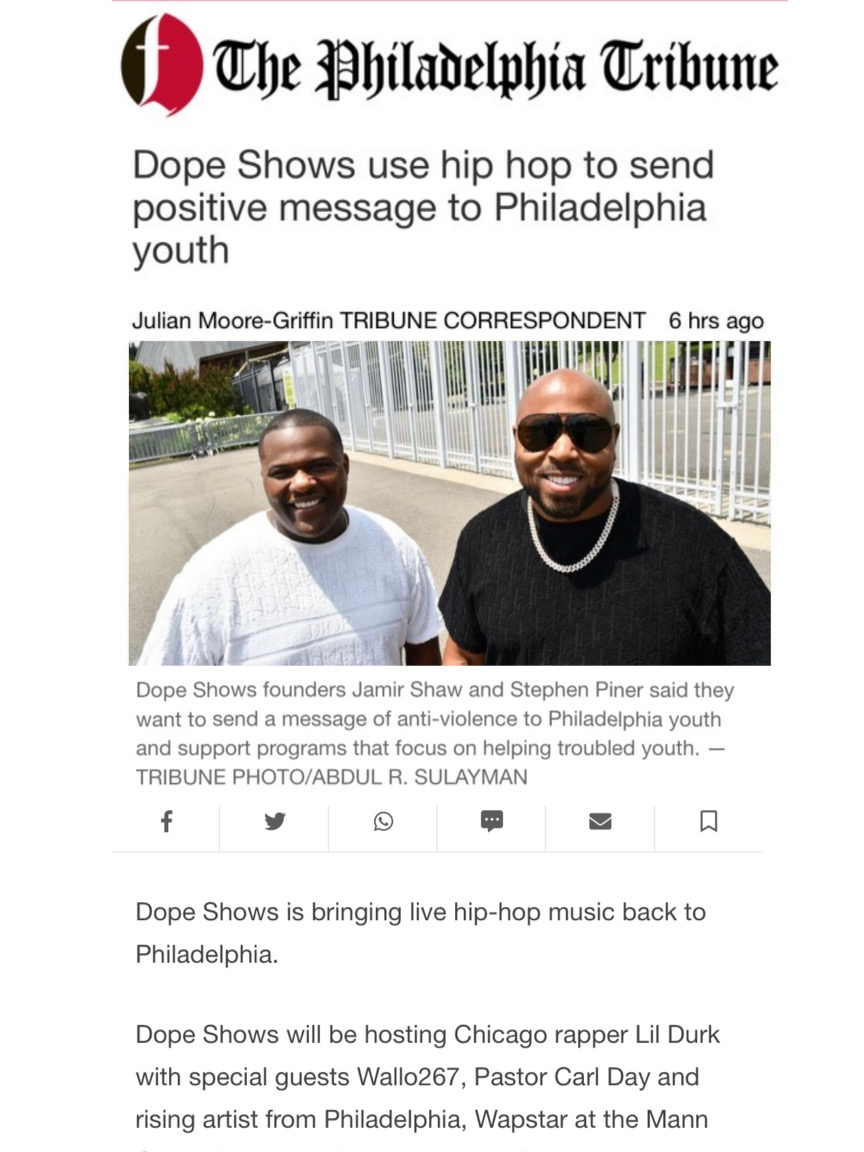 Dope Shows use hip hop to send positive message to Philadelphia youth