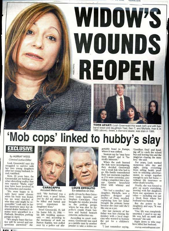 WIDOW'S WOUNDS REOPEN