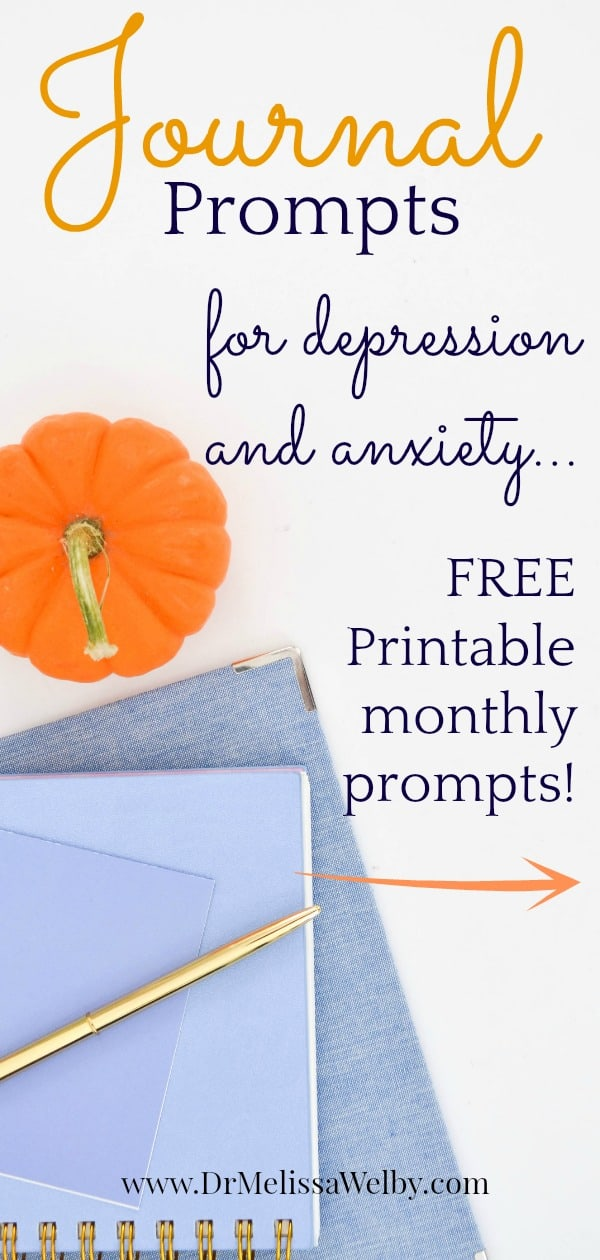 Using journaling prompts for depression and anxiety can help you stay focused and assess progress. Get journal writing ideas with monthly journal prompts delivered to you!