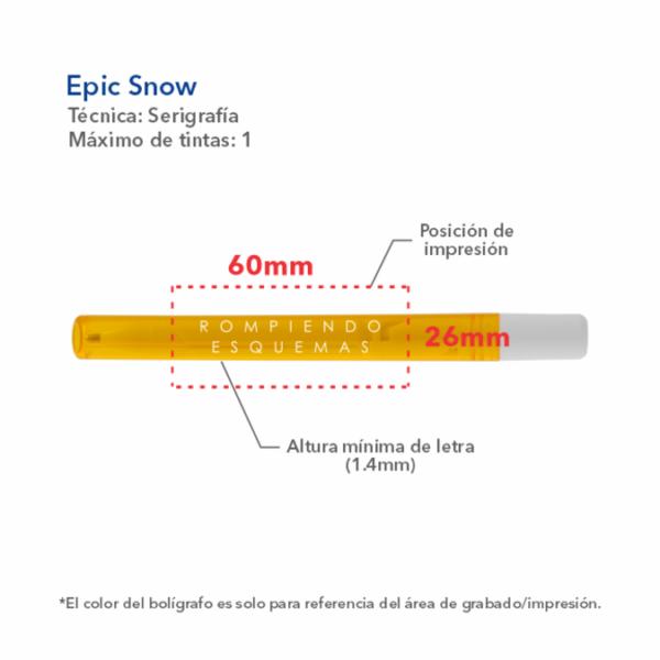 Boligrafo Epic Snow