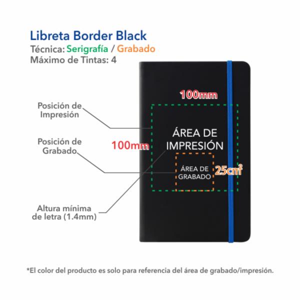 Libreta Border Black