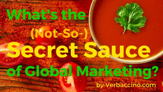 Verbaccino Blog - Secret Sauce