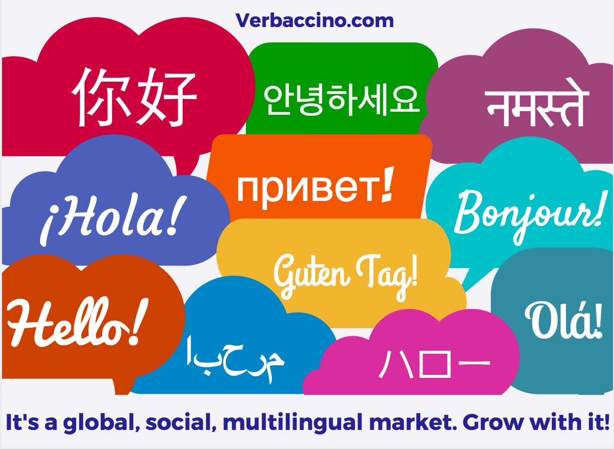Verbaccino - Hello in 11 languages