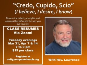 Tuesday Night Class - now via ZOOM